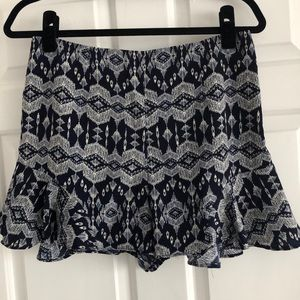 Love...ady Blue and White ruffle shorts
